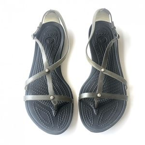 Crocs Open Toe Strappy Studded Sandals Size 9